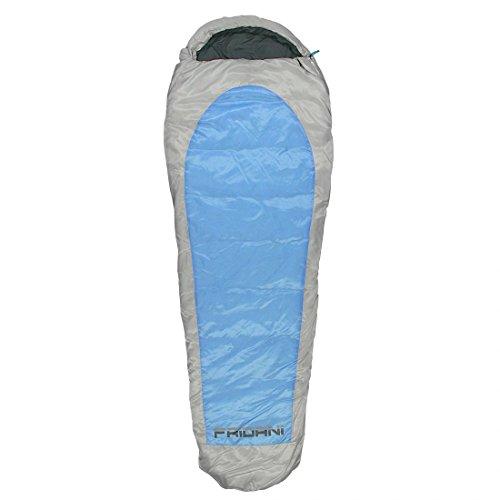 Fridani Schlafsack EB 235x85cm XL Mumienschlafsack Blau -20°C leicht warm wasserabweisend waschbar
