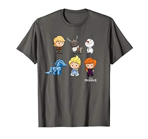 Disney Frozen 2 Chibi Character Lineup T-Shirt