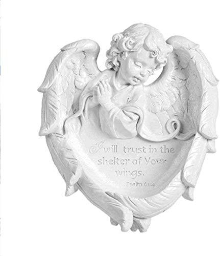 YsKYCA Statuetta,Ornamenti Statue E Figurine Ative Wall Camera Da Letto Wall Wall Pendant Warm Wall Sfondo Sala Da Pranzo White Angel Stereo Free Pun