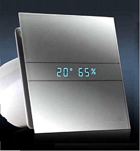 AllCATA / 00900200 / EN 100 GTH Hygro Weß Matt/Echtes Glasfront Ventilator/Lüfter/Badlüfter/Timer/Nachlauf/Hygrostat/Feuchtigkeit Sensor / / V2 Generation (ohne Rückschlagventil)