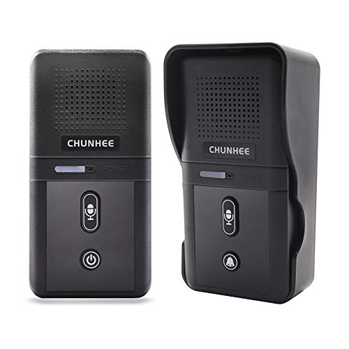 ChunHee Wireless Doorbell with Intercom for Apartment, Intercomunicador Waterproof Electronic Doorbell Chime for Home Office, 1/2 Mile Range 2800mAh Rechargeable Battery 10 Chimes 3 Volume