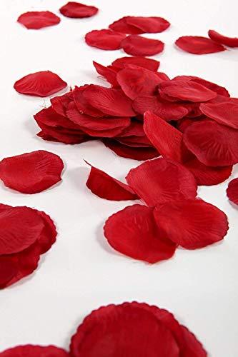 Ogquaton rosas artificiales para decoración de bodas, cumpleaños, celebraciones, 300 piezas (rojo) creativas y útiles