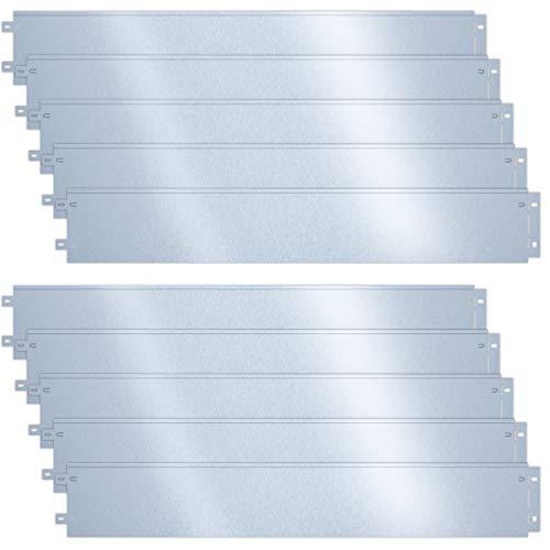 VOUNOT Rasenkante verzinkt Metall 10m, verzinkt Beeteinfassung Beetumrandung Mähkante, Länge 100cm Höhe 18cm, 10 Stück