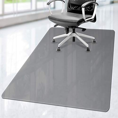 Lezgo Premium Polycarbonate Studded Chair Mat for Carpeted Floor, 48x36, Heavy Duty, Easy Glide Transparent Mats for Chairs, Good for Desks, Office and Home, Protects Floors, High Impact Strength