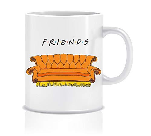 Friends Keramik Tasse - Legendäres Orangefarbenes Sofa - Perfekt Geschenke