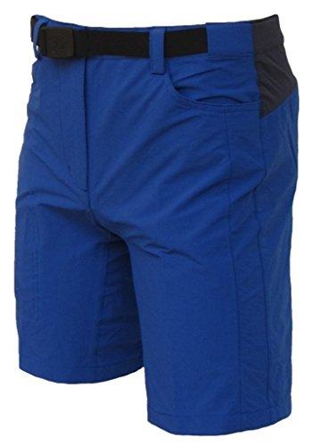 Maul Damen Outdoorhose Trekking Hose Bermudas Stretch Wanderhose Laval blau, Größe:40