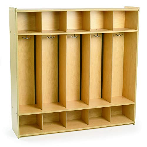 Angeles Value Line 5-Section Locker, Coat Rack with 10...
