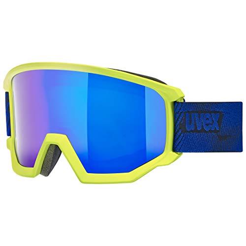 Uvex Gafas de esquí unisex para adultos, color verde lima mate, talla única