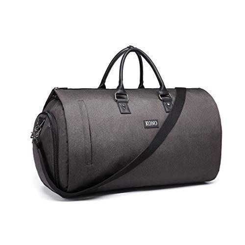 Kono Sporttasche Herren Reisetasche Weekender mit Schuhfach Große Wasserdicht Fitnesstasche Trainingstasche Gym Sport Tasche Handgepäck für Männer und Frauen (Grau)
