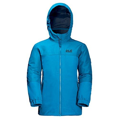 Jack Wolfskin Mädchen G Iceland 3-in-1 Jacket 3-in-1 Jacke, Icy Lake Blue, 116