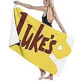 jhgfd7523 Lukes Diner - Juego de toallas de playa para baño, toallas de baño, accesorios para piscina, toalla de viaje y baño, 80 cm x 130 cm