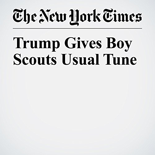 Trump Gives Boy Scouts Usual Tune copertina