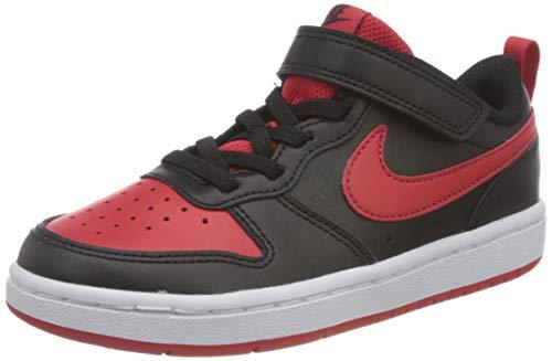 Nike Court Borough Low 2 (PSV), Sneaker, Black/University Red-White, 29.5 EU