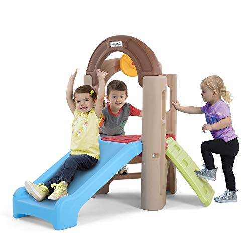 Simplay3 Young Explorers Indoor/Outdoor Activity Climber with Extra-Wide Slide for Multiple Kids Ages 18 Months to 6 Years Old