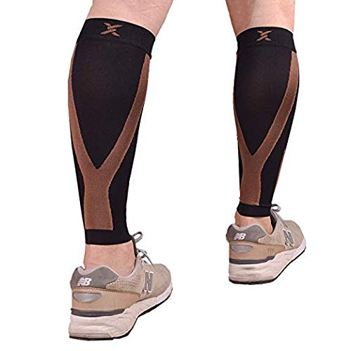 Thx4COPPER Calf Compression Sleeve(20-30mmHg) for Men & Women, Shin Splint...