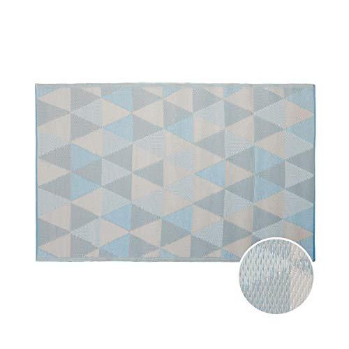 BUTLERS COLOUR CLASH - Outdoor Teppich Dreiecke 180x120cm - Bunter Flachgewebe Teppich für Innen- und Außenbereich