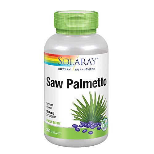 Solaray Saw Palmetto Berry 580mg   Healthy Prostate Support from Fatty Acids & Plant Sterols   Non-GMO, Vegan & Lab Verified   360 VegCaps
