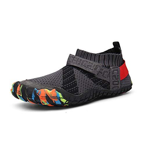 Parcclle Zapatos de agua para hombre y mujer, zapatos de natación, zapatos de playa para deportes y actividades al aire libre, para hombres y mujeres, 1595, color Gris, talla 42 EU