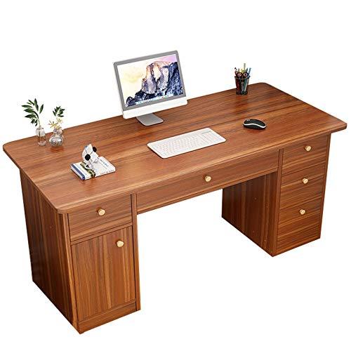 El escritorio de la computadora de la oficina en el hogar, con múltiples almacenes de cajones, escritorio grande, cojinete de carga estable, adecuado para varias escenas en el dormitorio, sala de esta