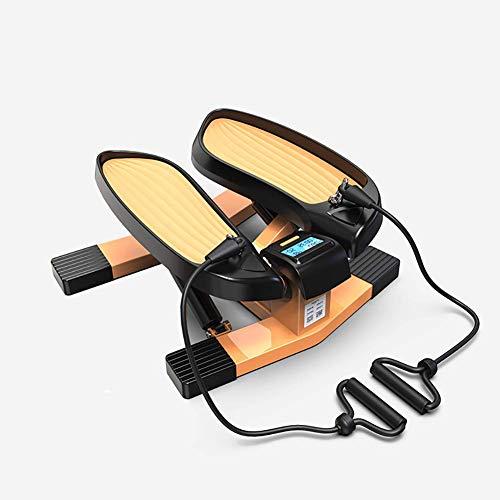 Elliptische Maschine Crosstrainer Stepper, Trainer Stepper mit Power Seile, Mini Übung Crosstrainer Ellipsen for Übung zu Hause Luft walker, keine höhenverstellbare Schreibtisch notwendig Leg & Peda D