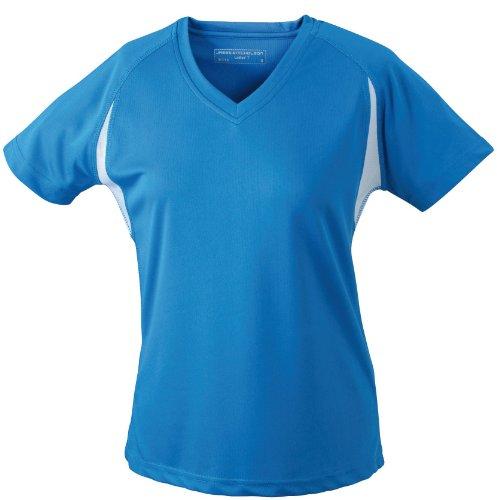 James & Nicholson Damen T-Shirt Running T-shirt X-Large royal/white