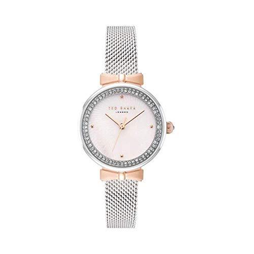 Ted Baker Reloj Analógico para Mujeres de Cuarzo con Correa en Acero Inoxidable TE50861001