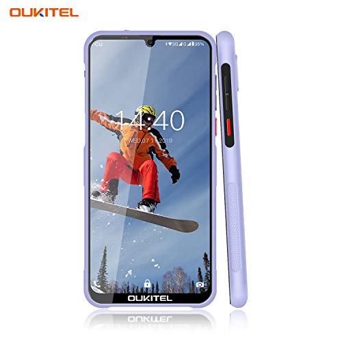 OUKITEL Y1000 Rugged Smart Phones, Waterproof Unlocked Cell Phones 6.1 Inches Android Phones 9.0 Dual SIM 2GB+32GB Outdoor Mobile Phone, 3600mAh Battery Fingerprint Face ID (Violet)