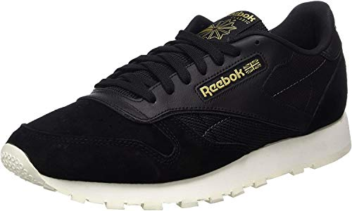 Reebok Classic Leather Alr, Zapatillas Hombre, Negro (Black/Chalk/Ash Grey/RBK Brass), 43 EU