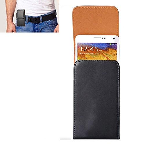YUNCHAO Funda Protectora Funda de Cuero de Flip Vertical de Textura de Caballo Loco/ Bolso de Cintura con tablilla Trasera for Samsung Galaxy Note 3 / N900 Caja del teléfono Celular