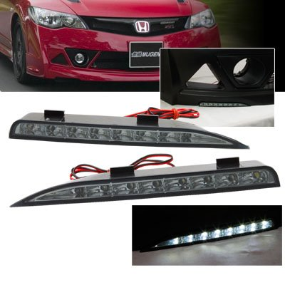 Remix Custom For 06-11 Honda Civic 4DR Mugen RR Bumper LED Day Time Running Lights