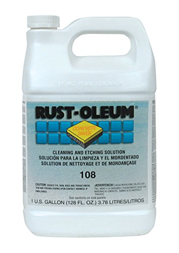 Rust-Oleum 108402 Concrete Saver 108 Cleaning and Etching Solution Coating, 1-Gallon, 2-Pack