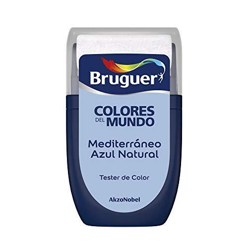 Bruguer Tester Colores del Mundo Pintura para paredes monocapa Mediterráneo Azul Natural, 0.030 litros