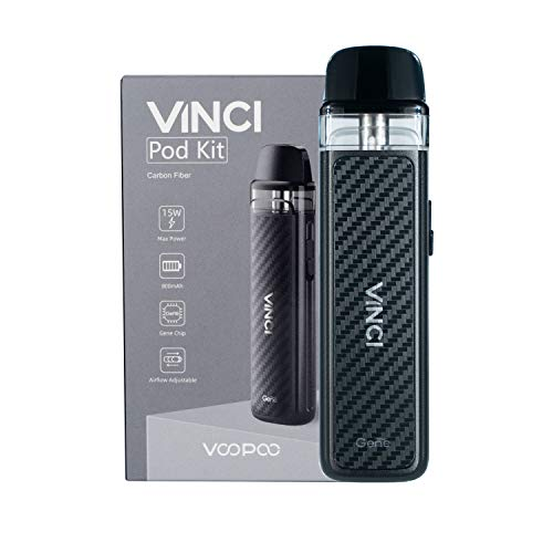 VOOPOO Vinci Pod Kit sigaretta elettronica 800mAh 2ml Kit completo - Senza nicotina San tabacco (Carbon Fiber)