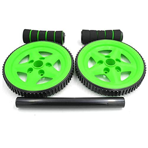 TYUXINSD Mach Dich stark Rollelrad, Bauchrolle Übungsgeräte Barbell Bauchrad Keiner Lärm Für Kerntraining Fitness Übung Muskelwachstum Physiotherapie für Männer Frauen, Grün (Color : Black)