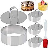 SU MEJOR OPCIÓN: Excelente para hornear, acodar y moldear; También se pueden usar los anillos para cortadores de pasteles.