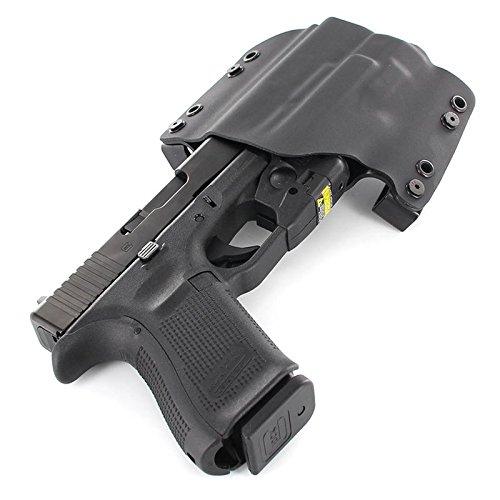 "OWB Holster - STREAMLIGHT TRL-6 - Black (Right-Hand, Springfield XD 9-4"" Service Model)"