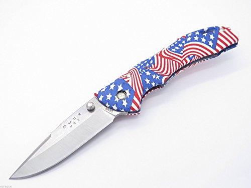 Buck 285 Bantam USA US American Flag Medium Folding Hunter Lockback Pocket Knife