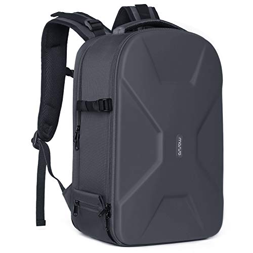 MOSISO Camera Backpack,DSLR/SLR/Mirrorless Photography Camera Bag 15-16 Inch Waterproof Hardshell Case with Tripod Holder&Laptop Compartment Compatible with Canon/Nikon/Sony/DJI Mavic Drone, Gray