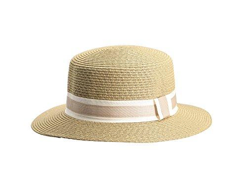 Miuno Miuno® Unisex Panamahut Herren Damen Partyhut Stroh Hut H51067 (Camel)