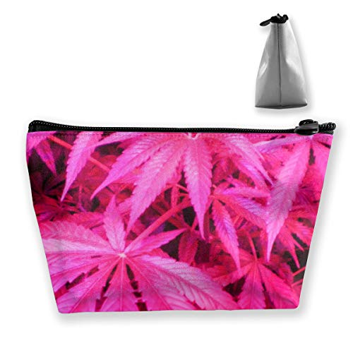 Varicose Veins Pink Weed Leaf Professional Cosmetic Makeup Bag Organizer Makeup Boxes