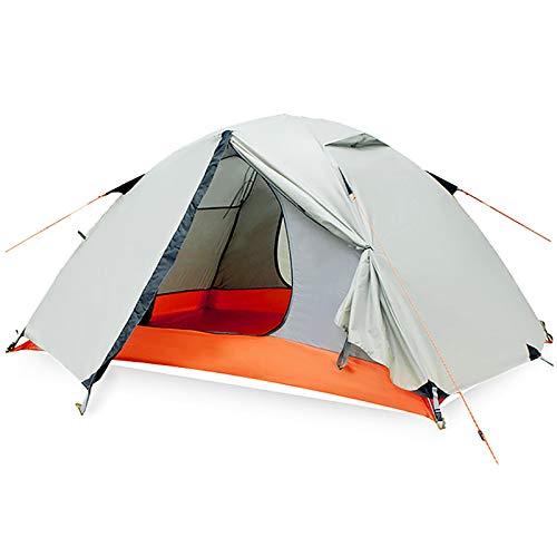 ZXD Tienda de campaña Ultraligera para 2 Personas, 3-4 Temporadas Tienda de cúpula fácil, Resistente al Viento y al Agua, para Trekking, Camping, Playa, Aventura Etc,White Green