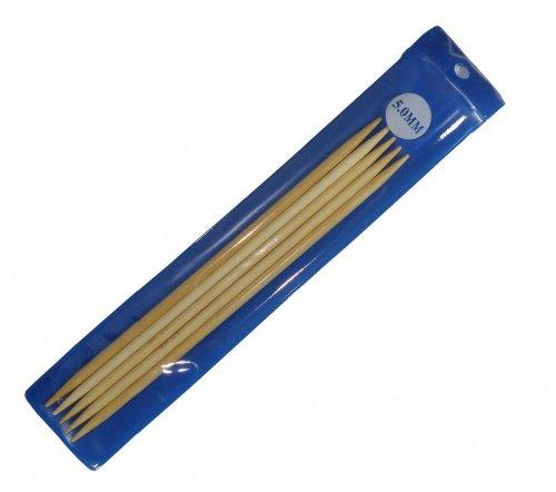 Bambus Nadelspiel Strumpfstricknadeln, Länge und Stärke wählbar, Größe:20cm x 5.0mm