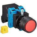 IDEC(アイデック) 照光押ボタンスイッチ HWシリーズ φ22 丸平形 モメンタリ形 HW1L-M120H2R