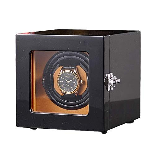 LULUTING Watch Winder Simple Reloj de Cuerda automática for 1 Relojes de Cuero de la PU del Caso de exhibición Caja de Reloj con Motor silencioso