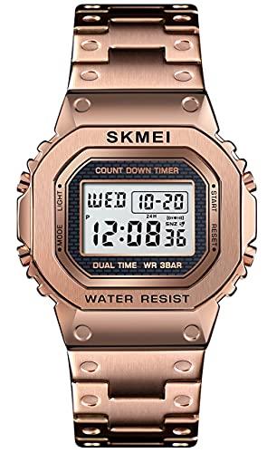YLB Reloj deportivo para hombre Moda a prueba de agua Reloj de pulsera Digital al aire libre Reloj de pulsera Analógico Digital Digital Digital 2 veces Visualización Alarma Cuenta regresiva Luminosa M