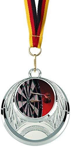 Verlag Reiner Kullack 10er-Set Medaillen »Darts«, mit 25 mm Sportfoto-Emblem (Folie, bunt)