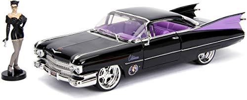Jada JA30458 1:24 1959 Cadillac w/Catwoman Figur, Mehrfarbig