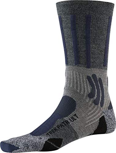 X-SOCKS Trek Path Ultra Light Chaussette Mixte Adulte, Opal Black/Dolomite Grey Mélange, FR : L (Taille Fabricant : 42-44)