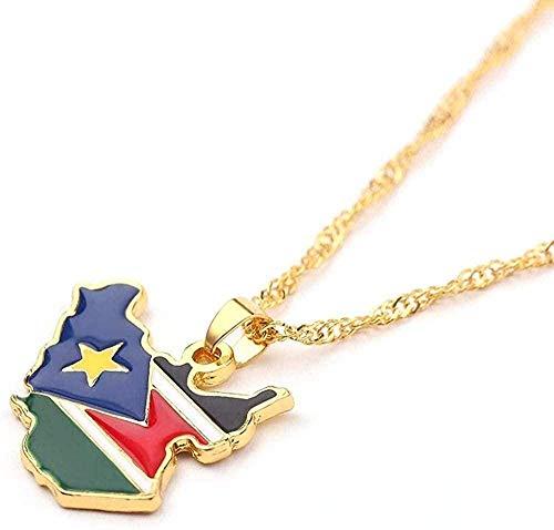 Bandera Collares pendientes Color dorado Tarjetas de joyería Regalos de fans nacionales étnicos