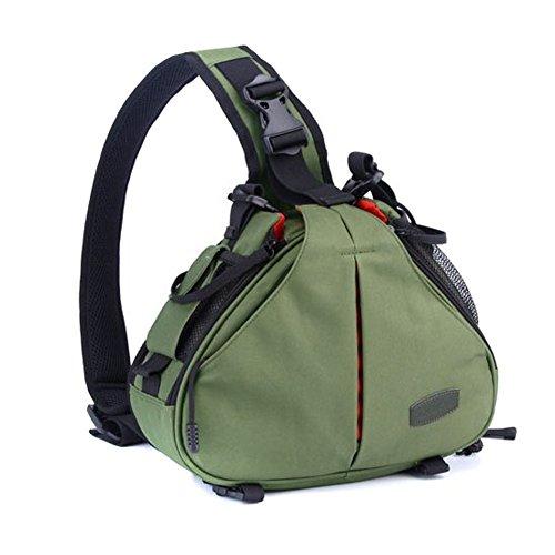 Caden - K1, Borsa per fotocamera reflex DSLR–verde militare